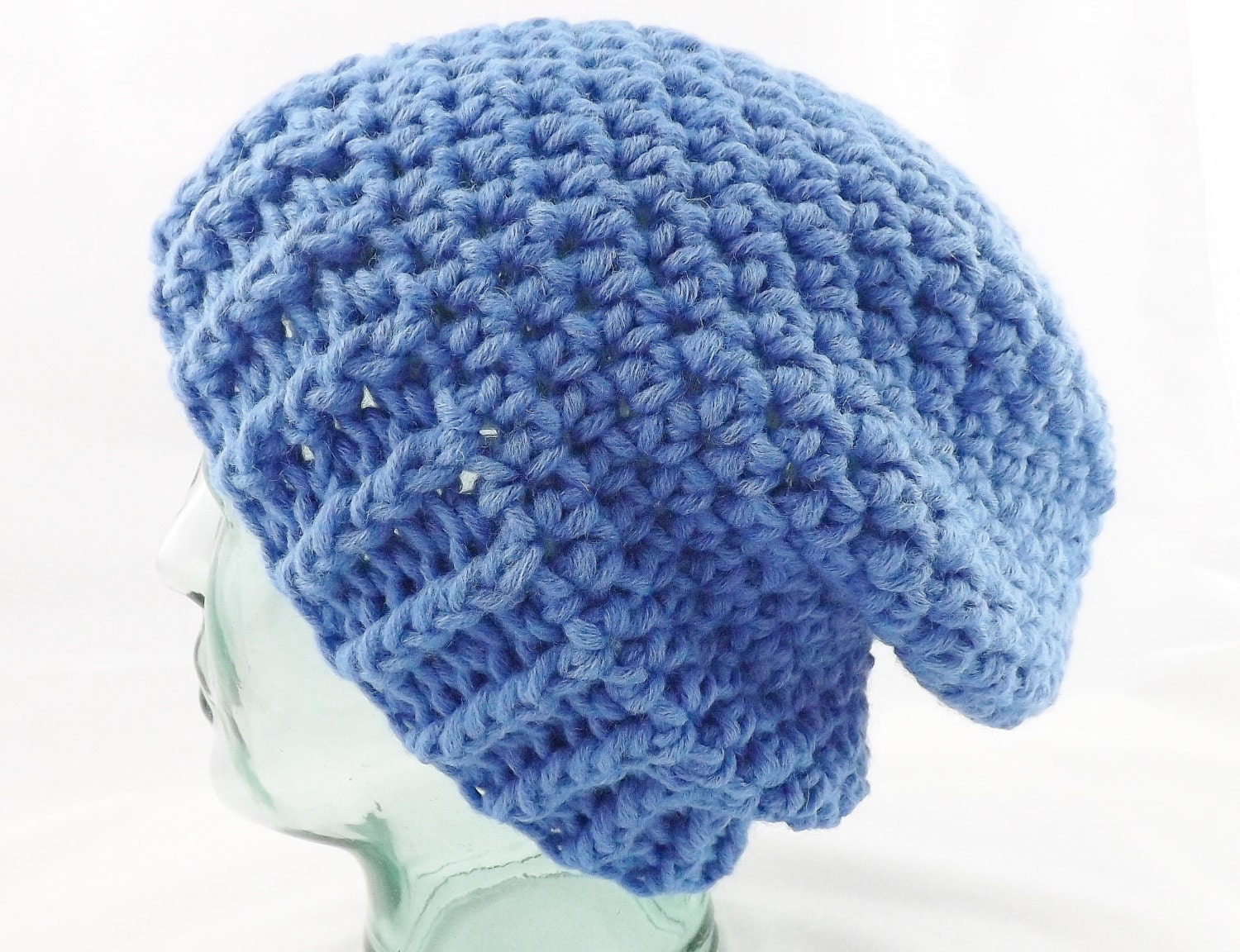 chunky beanie slouchy hat woolly hat winter hat mens hat womens hat hipster hat knitted hat crochet beanie wool beanie blue hat