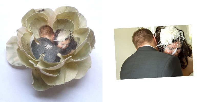 Custom made flower brooch size S with your picture
