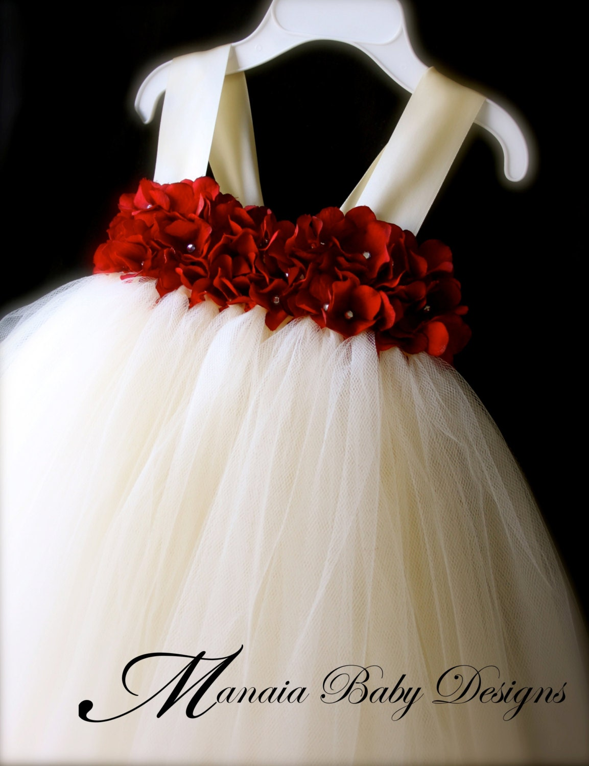 Cheap Flower Girl Dresses In Red - Wedding Guest Dresses