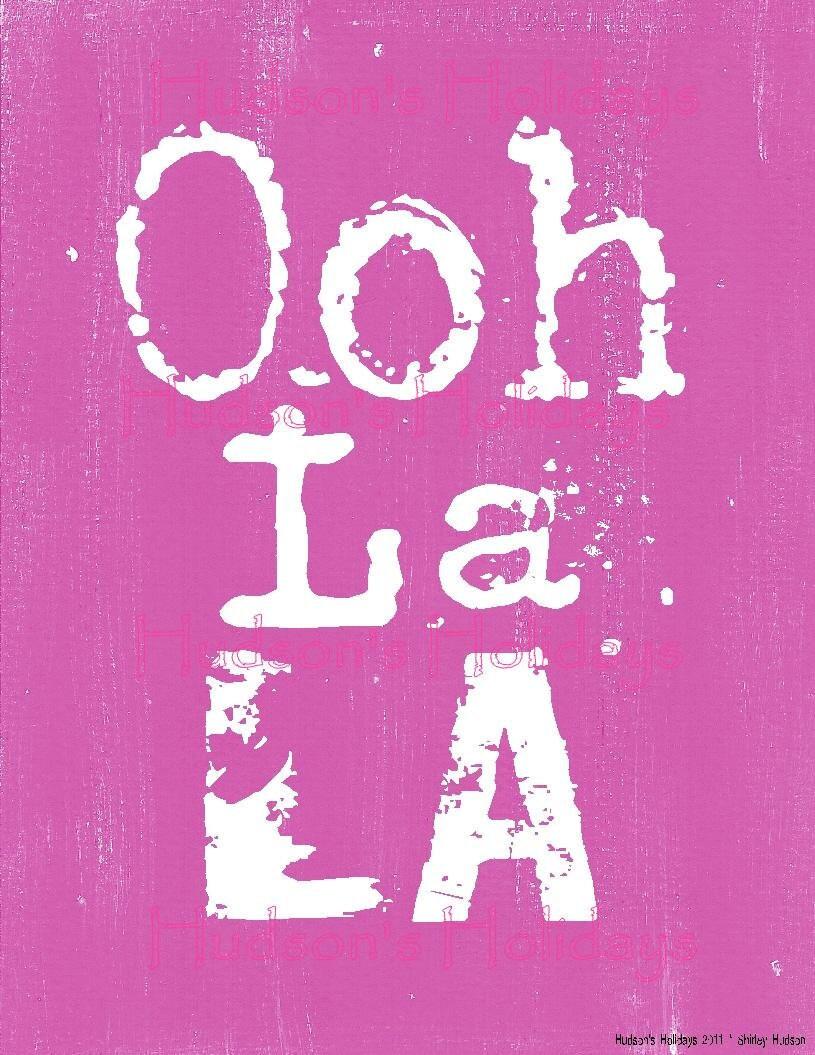 Ooh La La French Sign Digital PDF Pink Uprint By