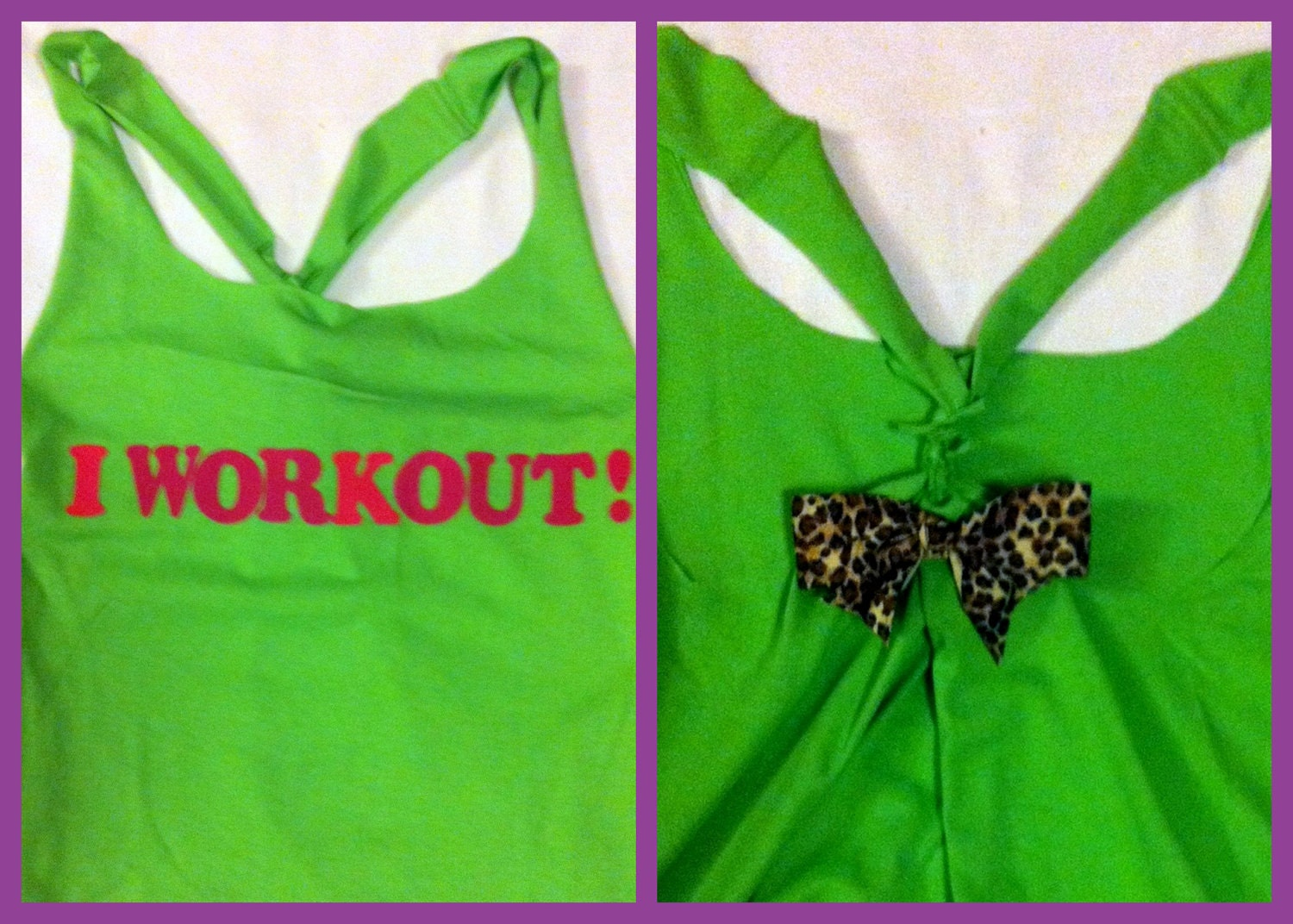 LMFAO inspired I Workout Racerback Work-out Tank Top