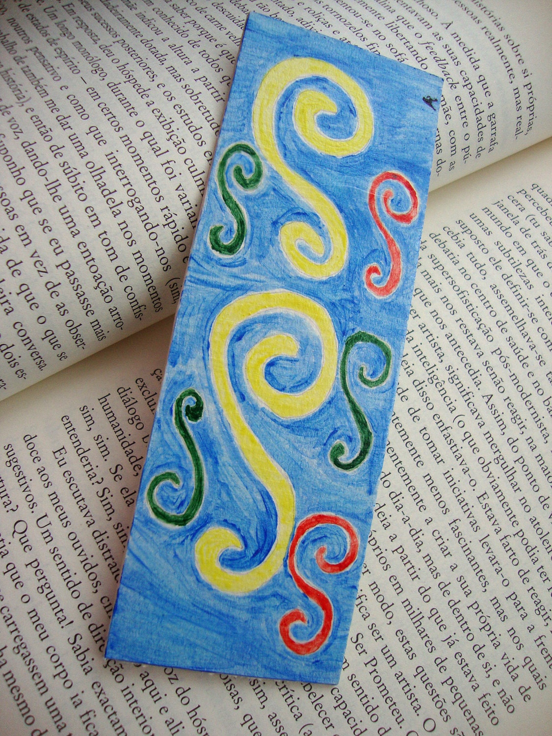 Original Acrylic Art Bookmark -  'Inner Voice'