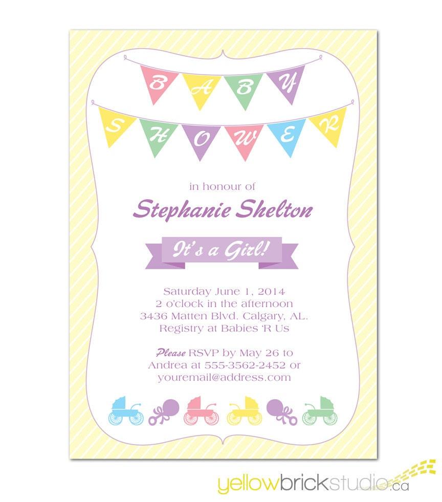 Items Similar To Baby Shower Banner Invitation Diy
