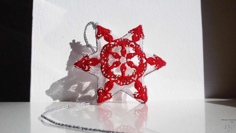 Новогоднее макраме: Рождественский цветок