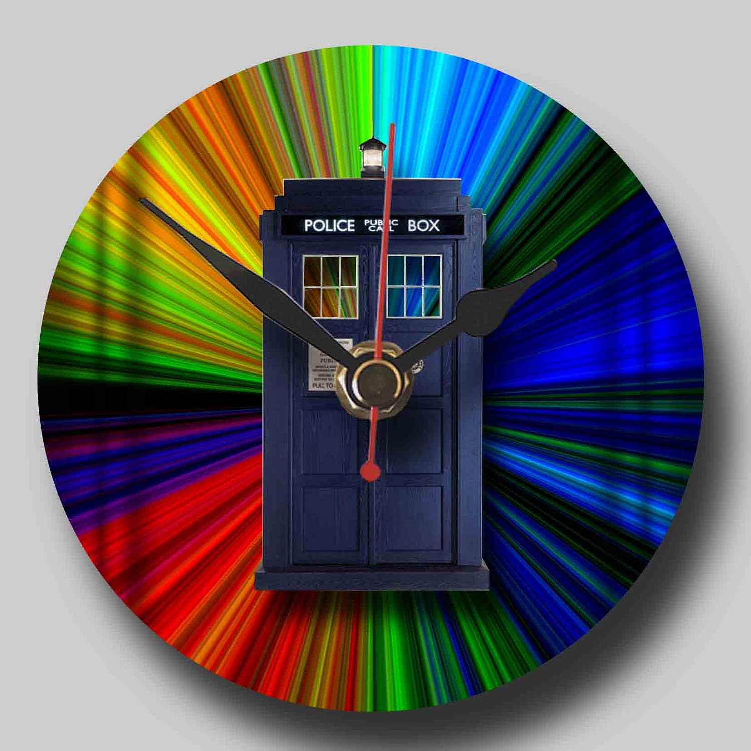 Doctor Who Tardis - Recycled CD Clock