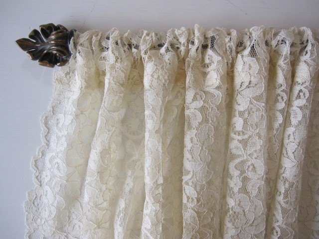 Curtain Cafe Window Curtain Lace Cafe By Cottagehomecouture