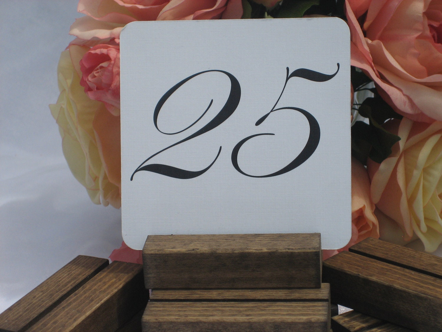 Rustic Wedding Wood Table Number Holders- Set of 20