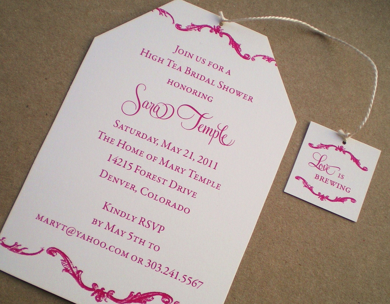 High Tea Bridal Shower Invitations by ideachic on Etsy