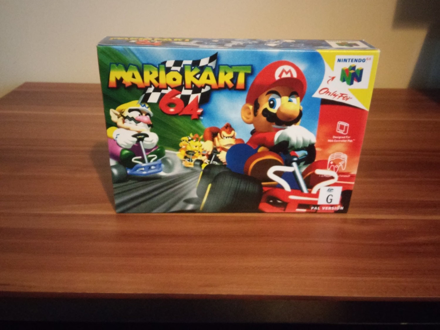 N64 Mario Kart  Repro Box and Insert NO Game Included