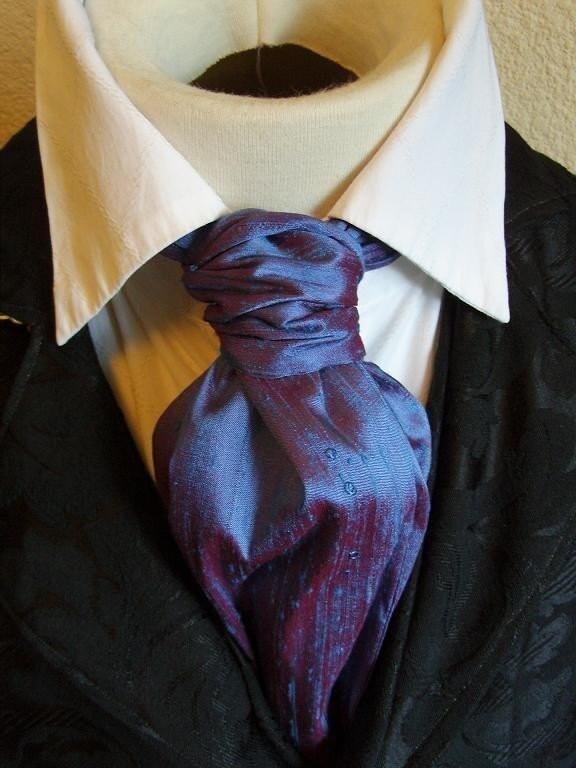 ascot tie cravat necktie neckwear dupioni silk by elegantascot