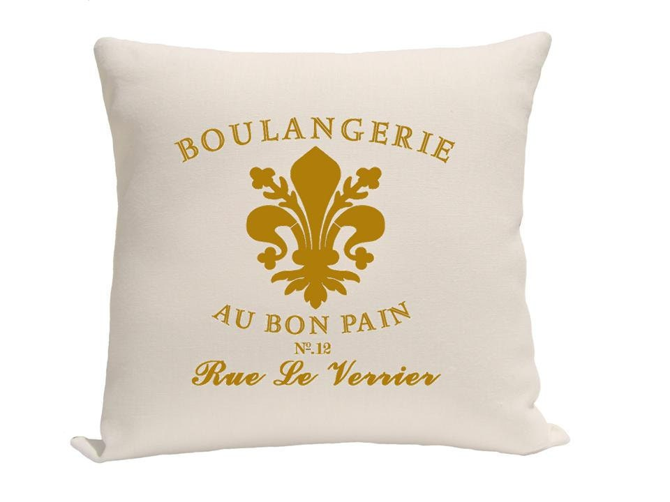Pillow - Decorative pillow - Throw pillow - Accent pillow - Decorative throw pillow -  Paris pillow - pillow cover - Gold and natural - gracioushome
