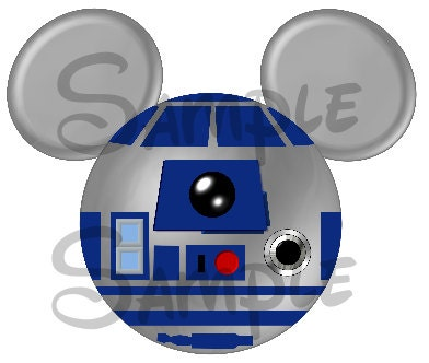 R2d2 Star Wars Character Inspired Mickey Head By