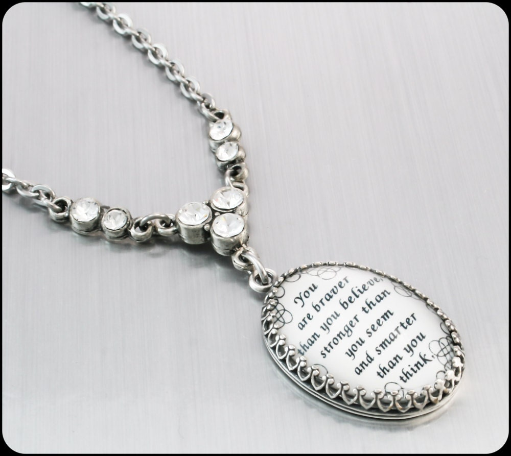 inspirational pendant jewelry word pendant by