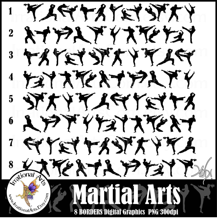 Kids Martial Arts Clip Art Martial arts borders instant