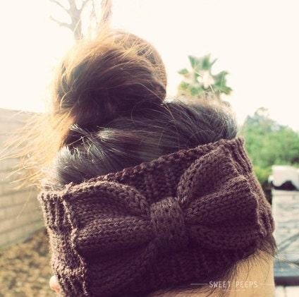 WINTER SPECIAL Knitted Bow Headband, Bow Headband, Knit Headband, Knit Headband, Knit Beanie, Bow Beanie, Cute Bow Headband