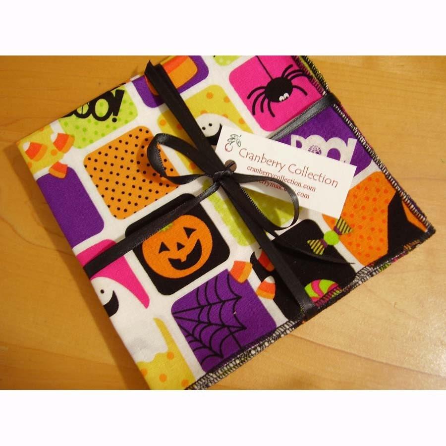 Halloween cloth napkins halloween cocktail napkins by for Halloween cloth napkins