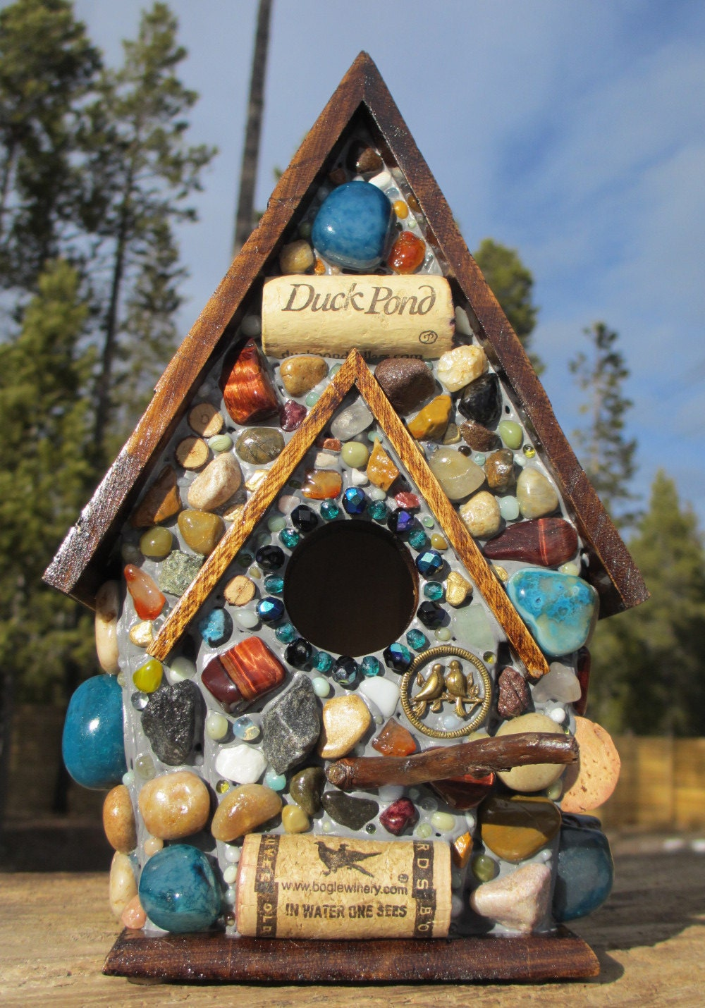 how to make mosaic birdhouses