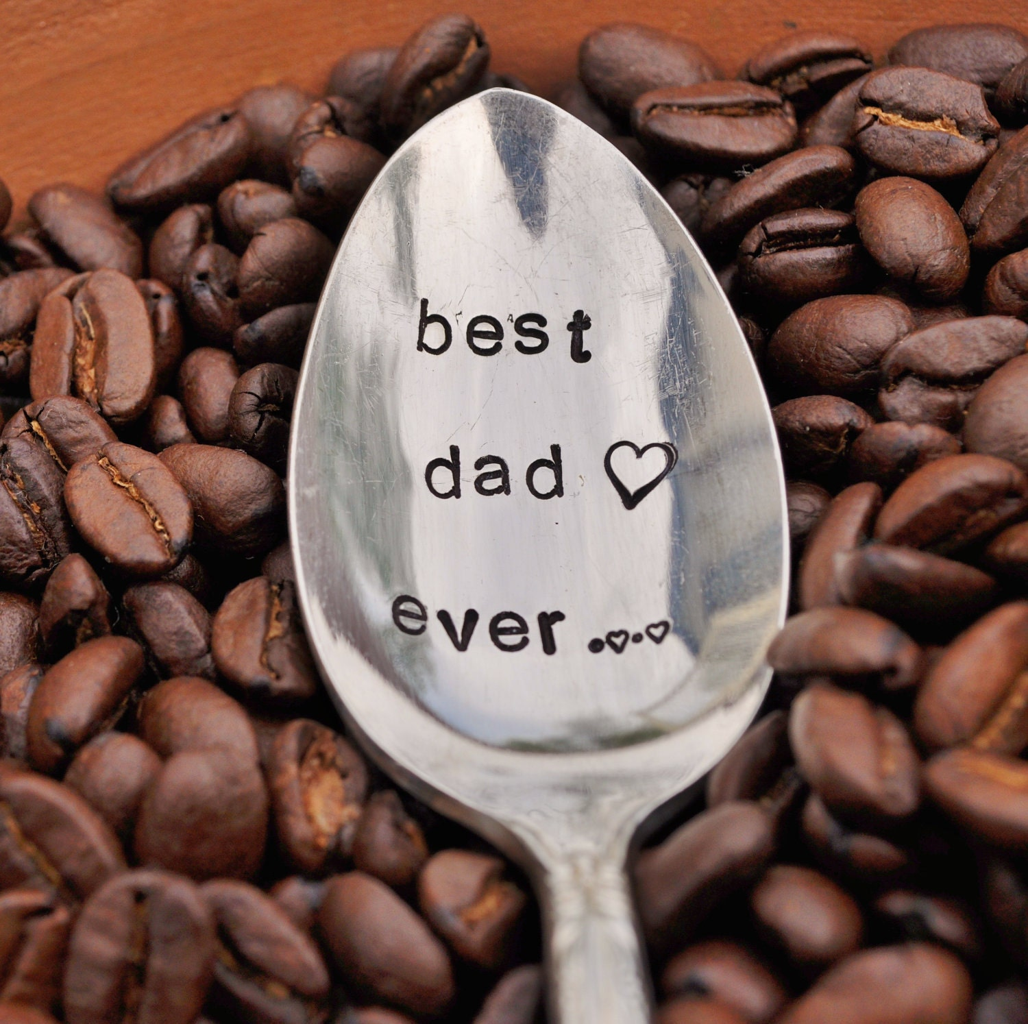 BEST DAD EVER - Hand Stamped Vintage Coffee Spoon for your Coffee Lovin' Papa this Father's Day (tm) - jessicaNdesigns