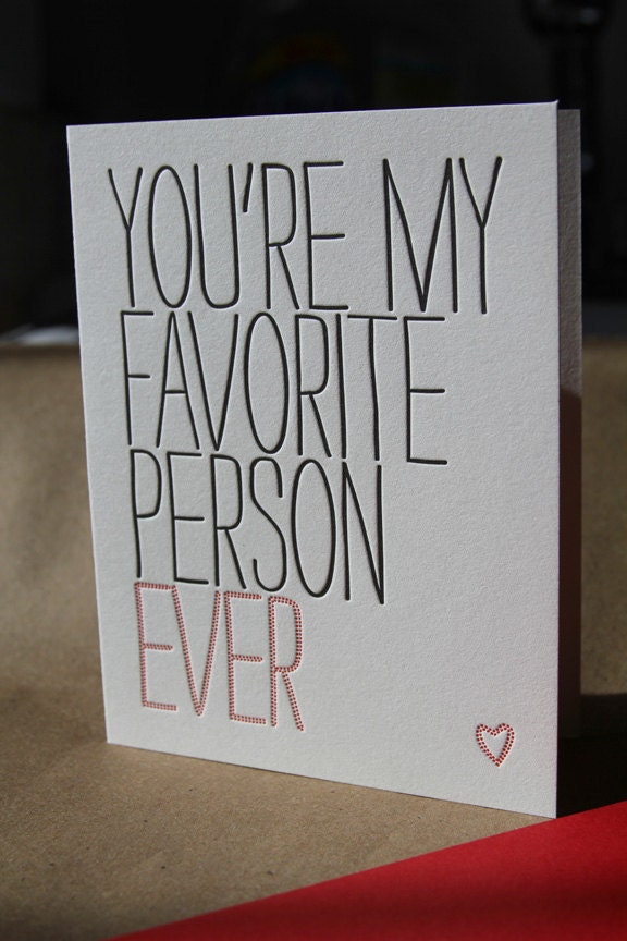 Amazon.com: Youre My Favorite Person Ever, Greeting Card
