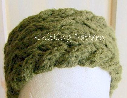 Diamond Grid Knitting Pattern : Items similar to Diamond Cable Headband PDF Knitting Pattern on Etsy
