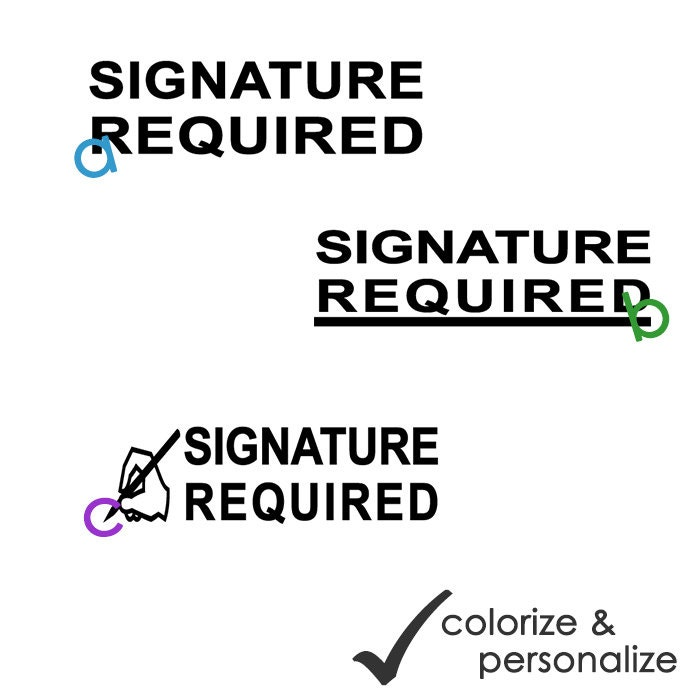 Signature Required Office Selfinking Rubber By Allyoucanstamp