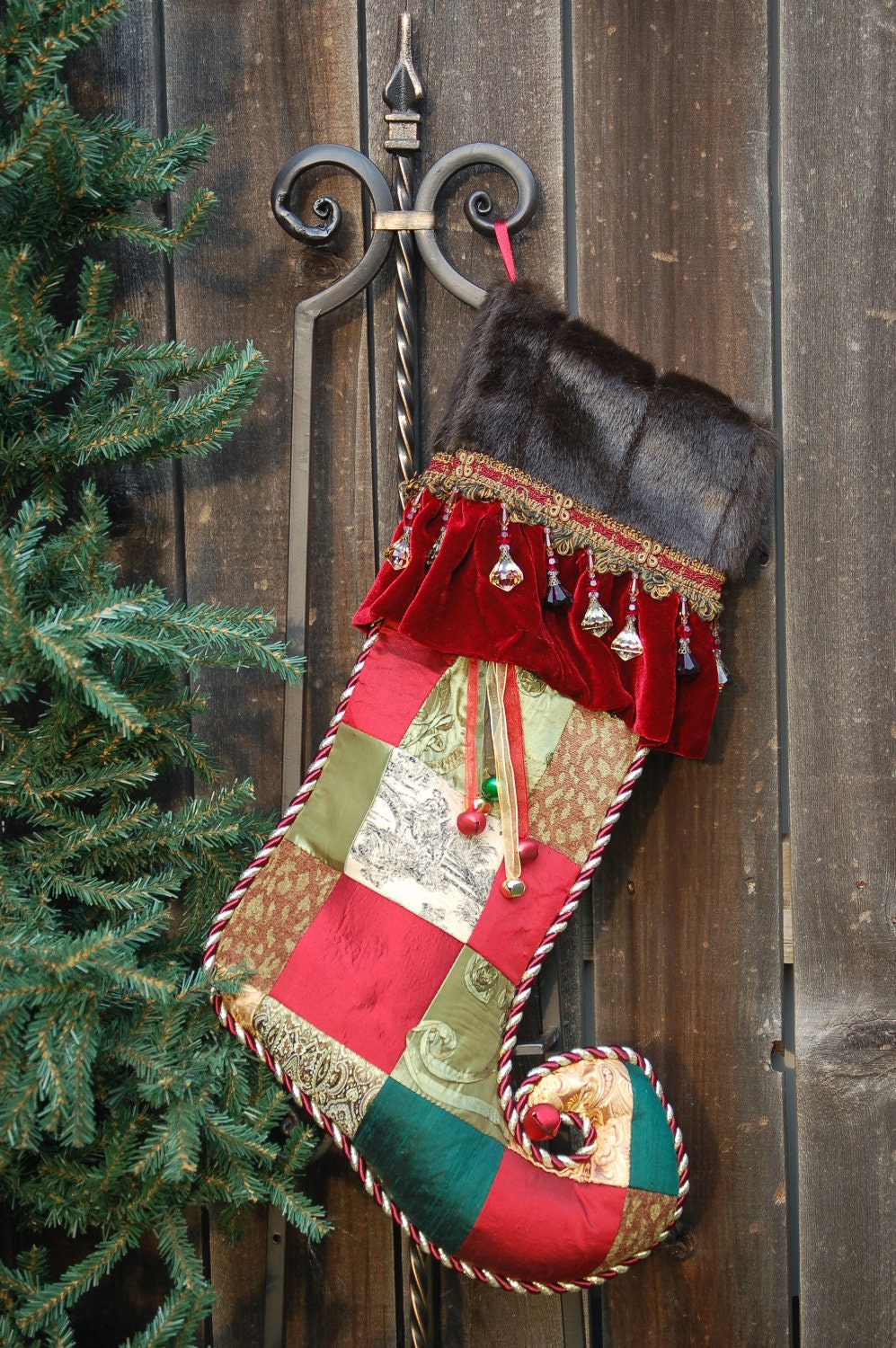 Harlequin Christmas stocking 1023