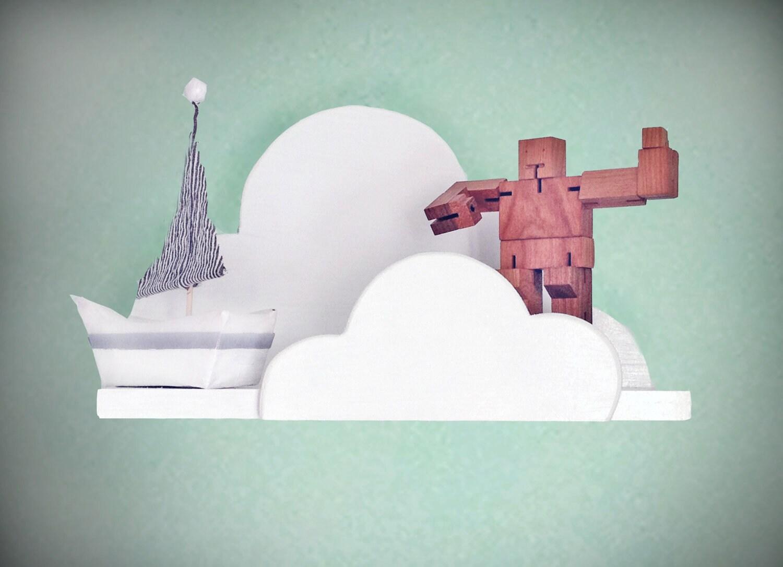 Cloud Wall Shelf- Medium - ShopLittles
