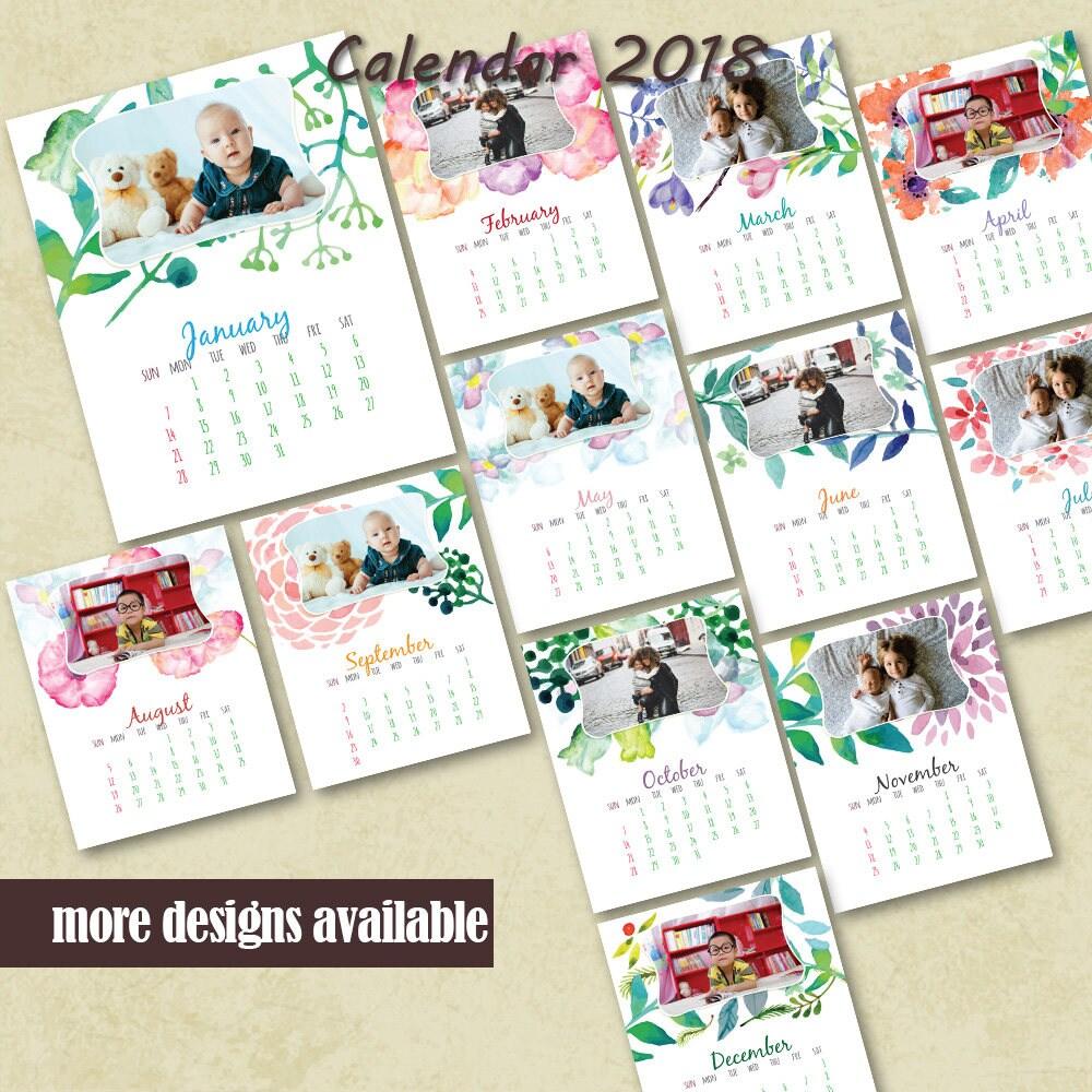 Floral calendar | Etsy