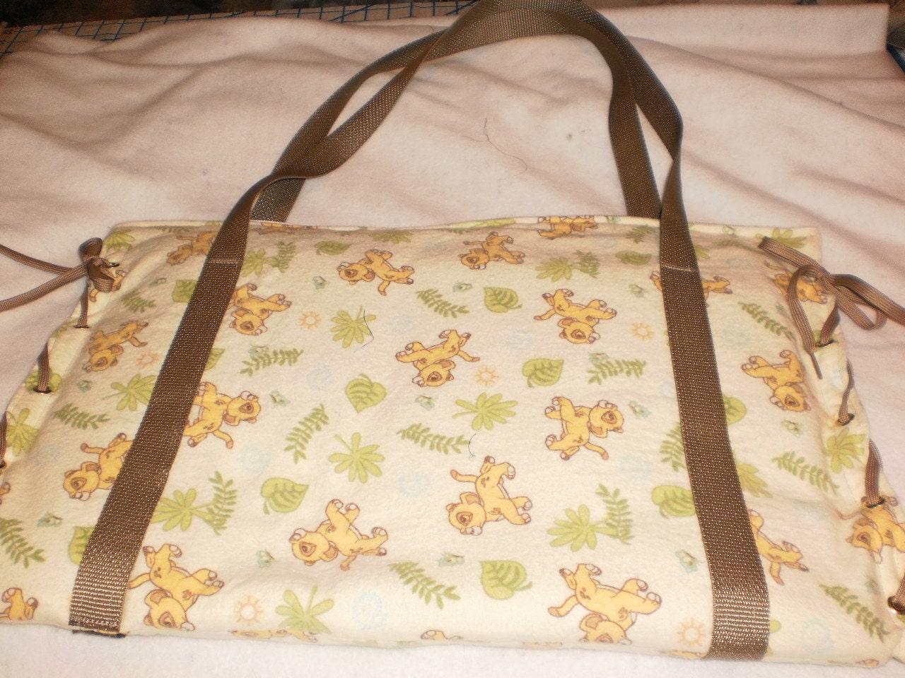 lion king diaper bag by bagsbyjune on etsy. Black Bedroom Furniture Sets. Home Design Ideas