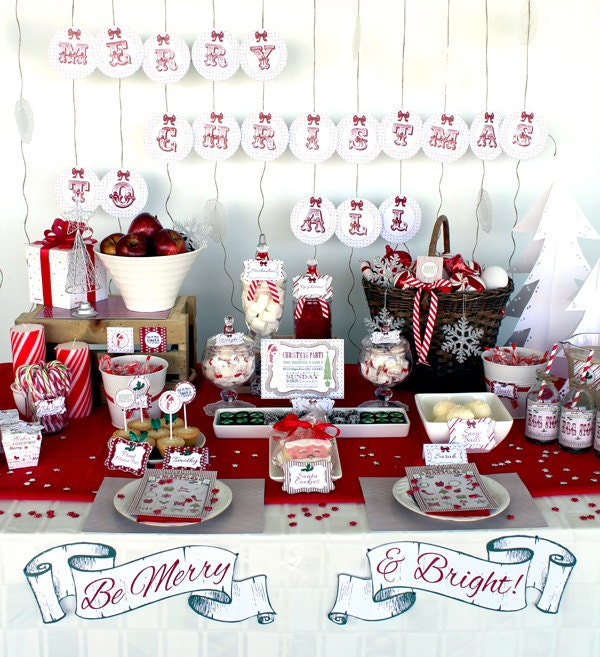 Retro Christmas Party Collection - INSTANT DOWNLOAD ...