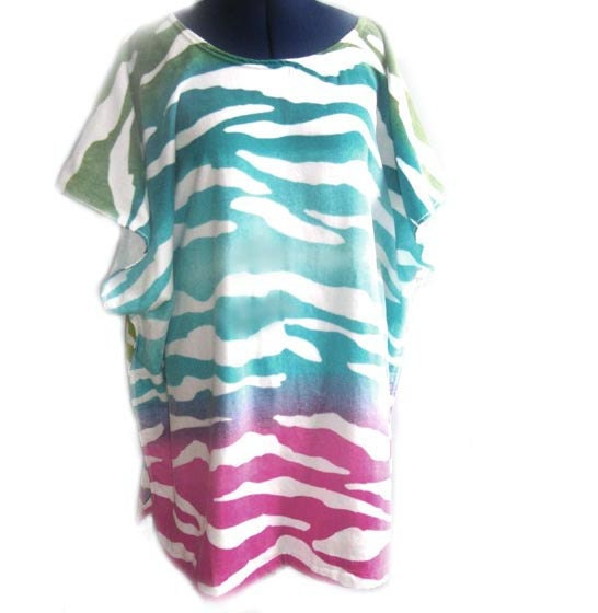 Waves Bath And Beach Terry Cloth Caftan Cover Up By