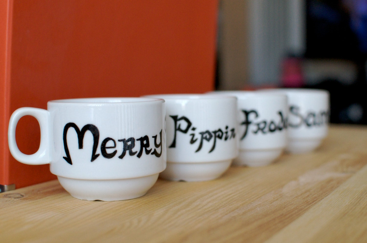 Lord of the rings stacking mugs with all your by abirdinthehand