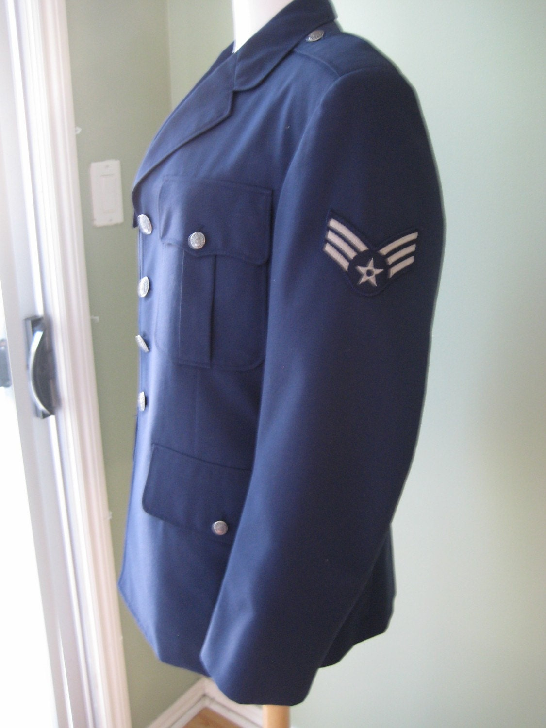 Vintage air force uniform was great