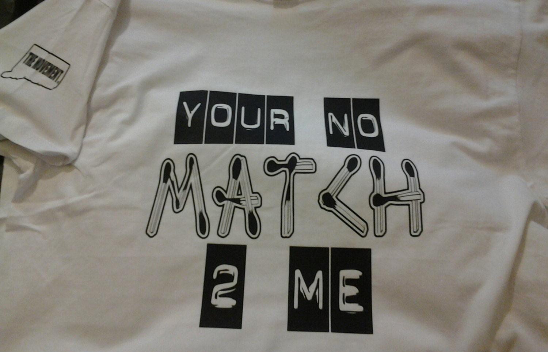no match mens tshirt