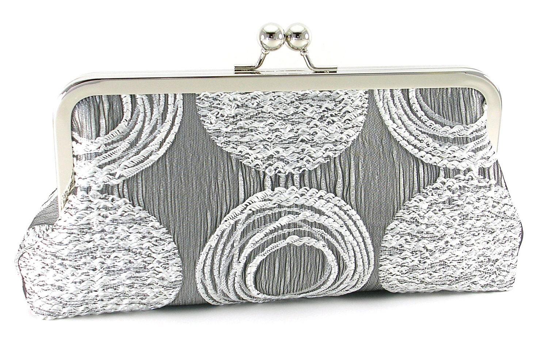 Silver Clutch Handbag by BagBoy - BagBoy