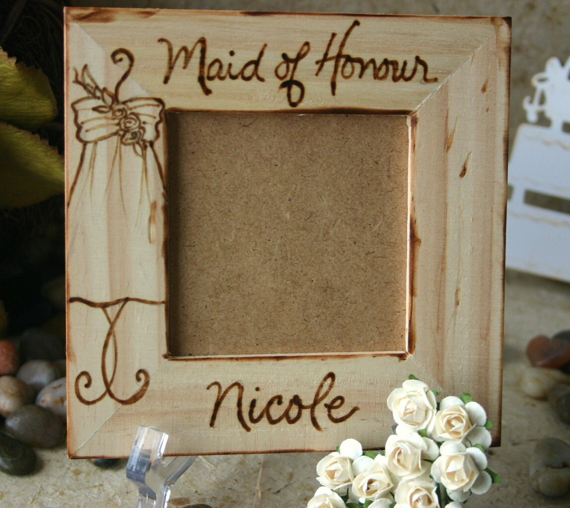 Maid of Honor Honour Sentimental Wedding Gift Personalized with YOUR ...
