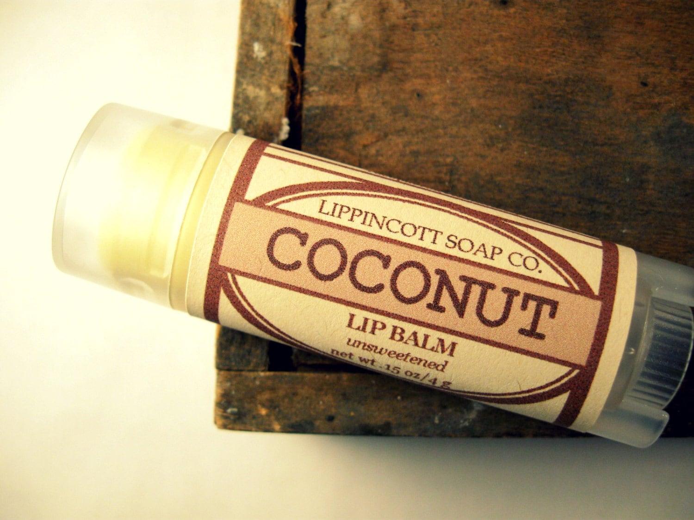 Coconut Lip Balm - Unsweetened Lip Balm