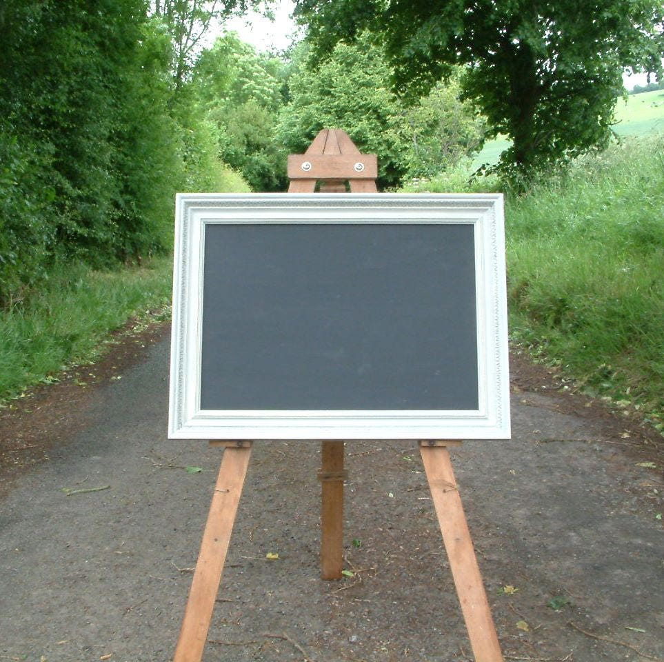 Large sized blackboard or chalk board painted in Annie Sloan Paris Grey and distressed I27.