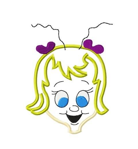 Items similar to grinch cindy lou head digitized applique