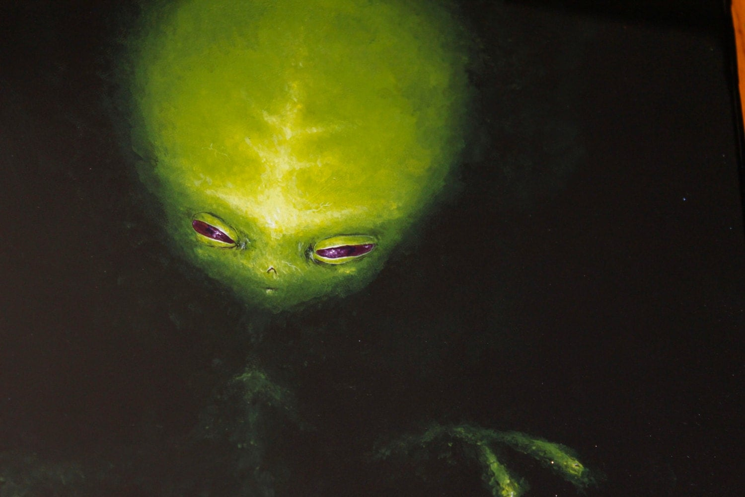 ALIEN 16x20 acrylic painting by Mike Boston - mikeboston