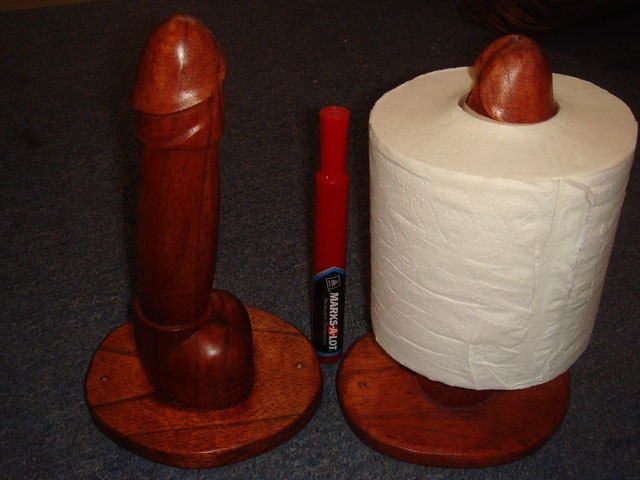Penis Toilet Paper Holder Penis Statue Mature by