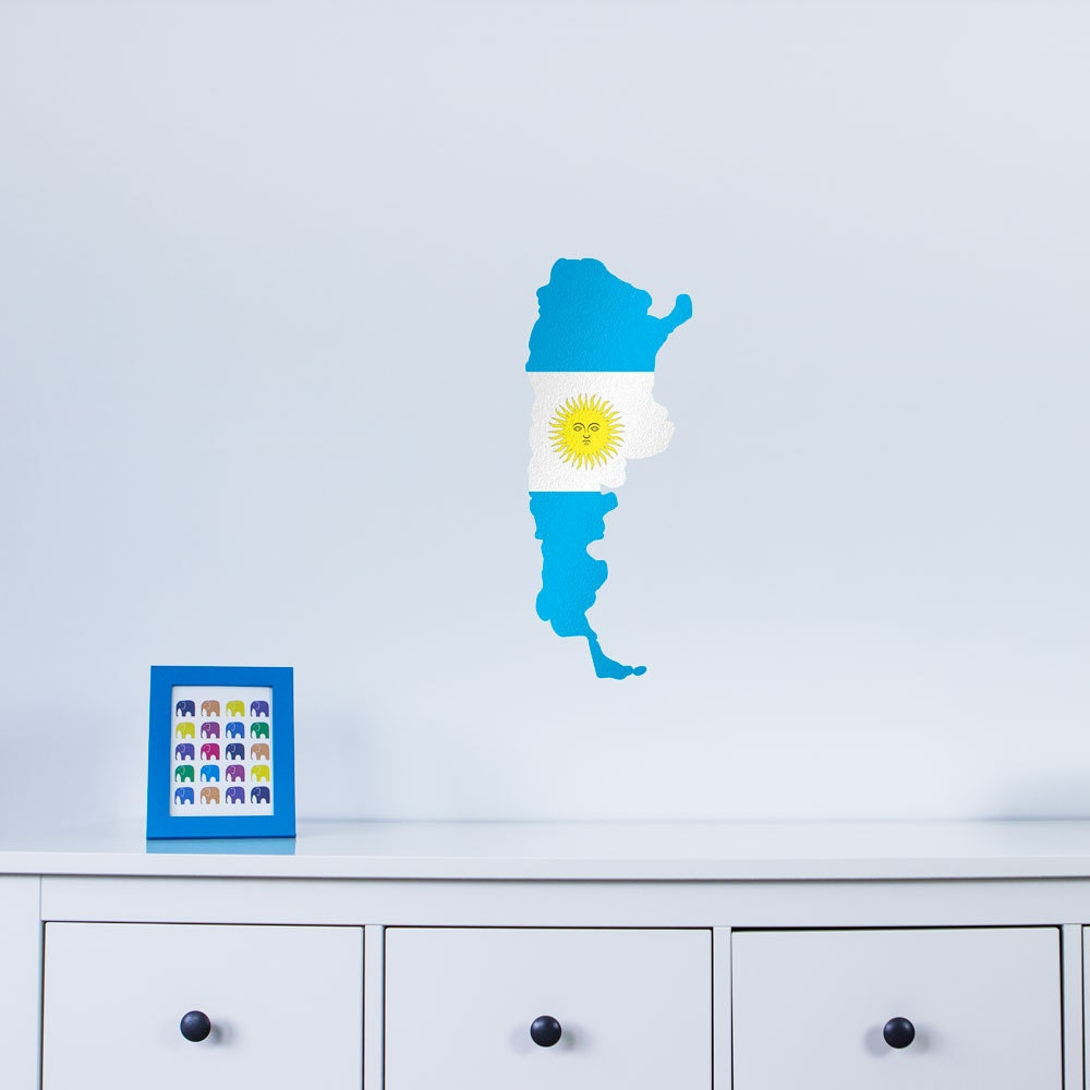 National Flag Country Outline of Argentina Vinyl Wall Art Sticker