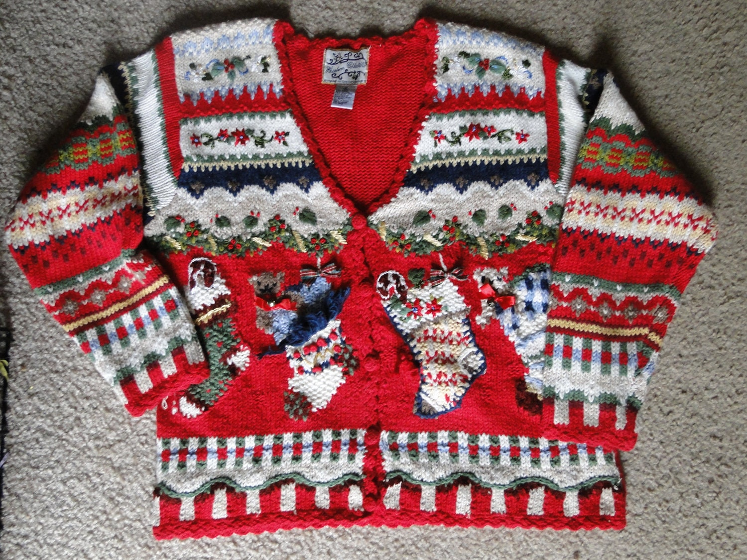 Cheap Ugly Christmas Sweater / Cardigan by ABetterSweaterShop