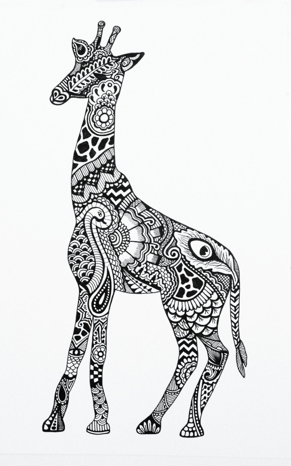 Tribal giraffe design