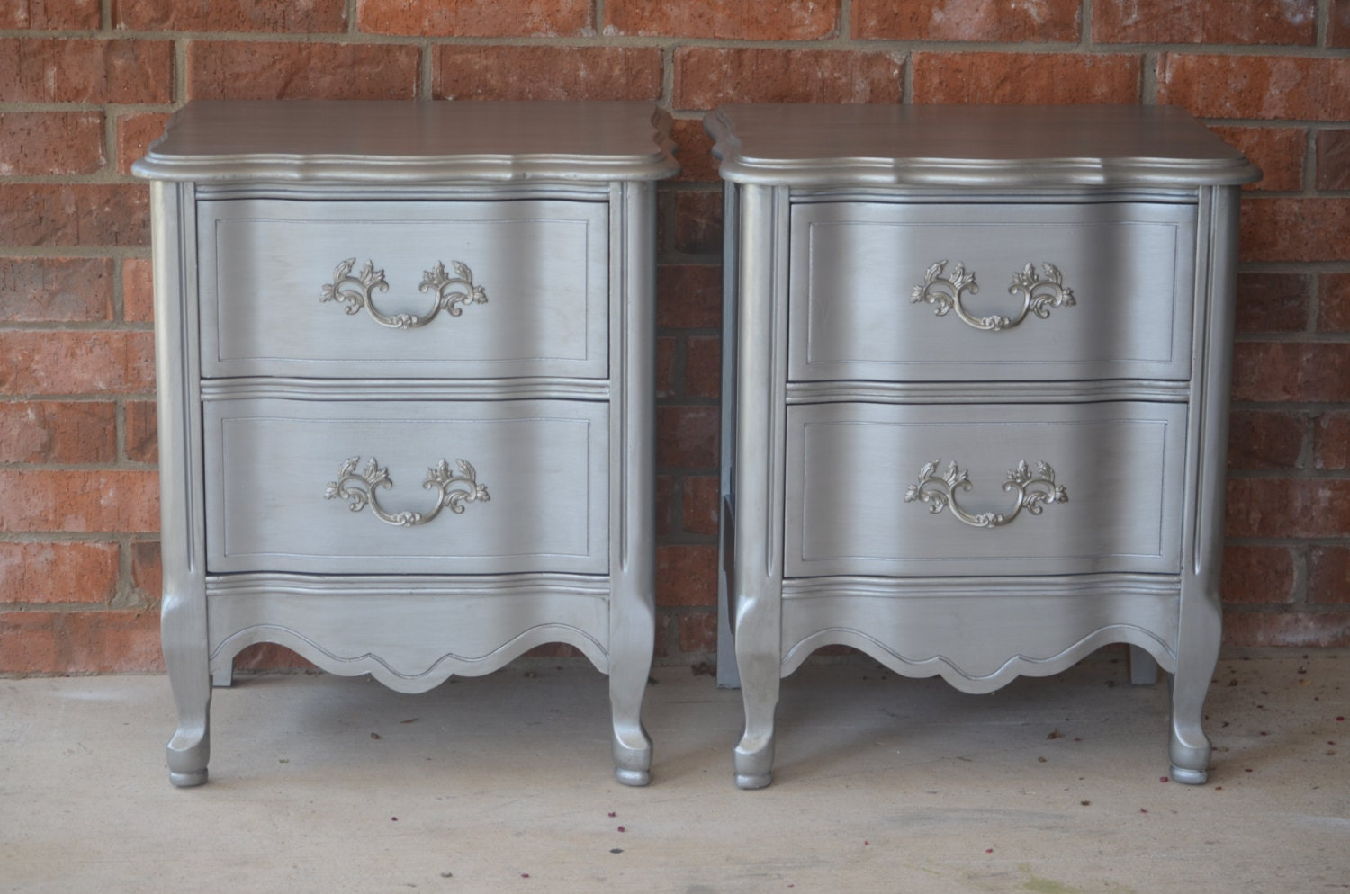 French provincial nightstands end tables side tables
