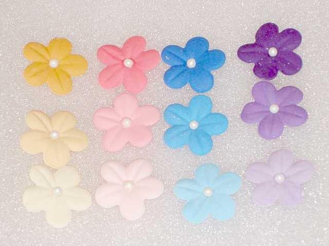 "50 Ombre  Gum Paste 1"" Blossoms - GumpasteGarden"
