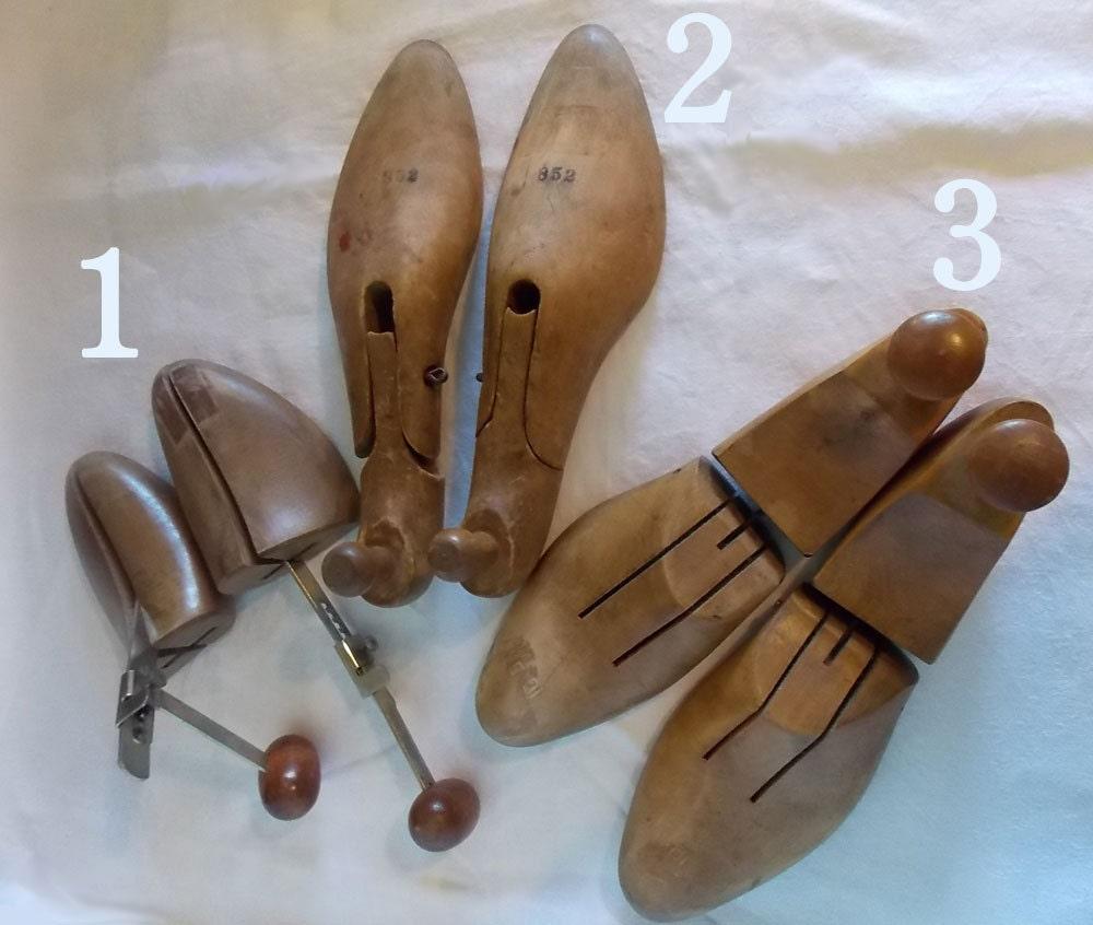 wooden shoe or boot trees 3 pair shoe by smallbonesstudio