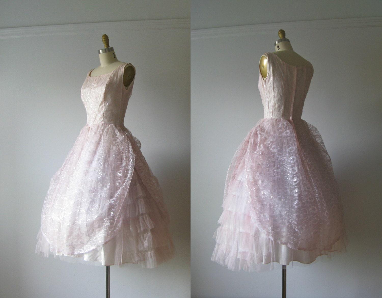 vintage 1950s prom dre...