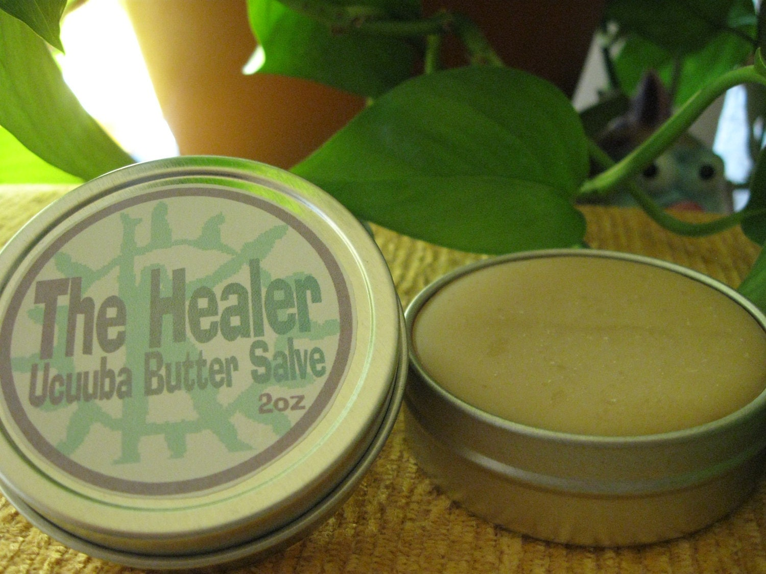 Absolute HYDRATION and RENEWAL with Organic Brazilian UCUUBA Fruit Butter Salve... 2oz Tin