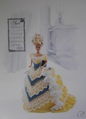 Annie s attic calendar crochet bed doll pattern april by joyalice
